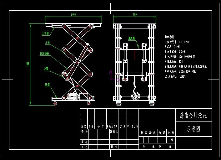 液压泵站:升降机专用组合液压齿轮泵 9.电机功率:1.5kw,220v,50hz 10.图片